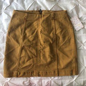 NWT free people yellow modern femme skirt 0